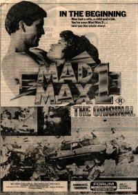 See The Original Mad Max Newspaper Ad Web on Custom Road Star Warrior