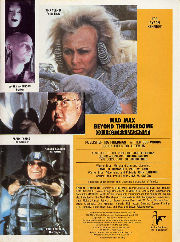 Mad Max Movies - Movie Magazine Archive