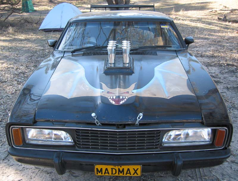 Mad Max Fan Cars - Red XA / Bat Car from Back 2 The Max