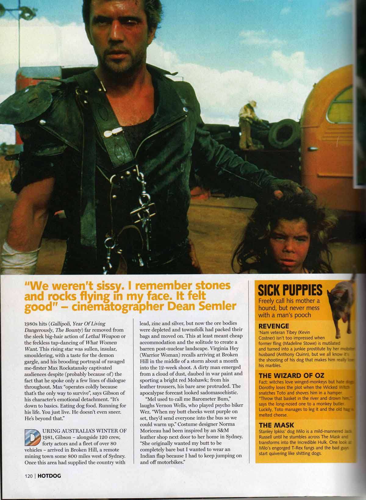Mad Max Publicity Material Archive - Mens Magazine Archive