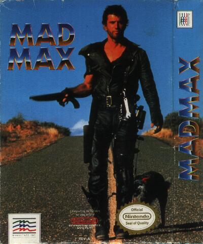 Box of NES Mad Max game
