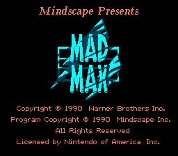 Mad Max game title screen
