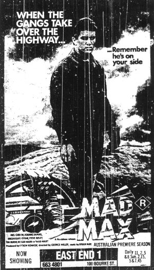 mad max original australian release advertising